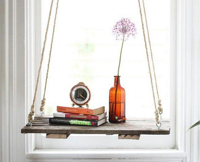 etagere suspendues diy facile bois et corde