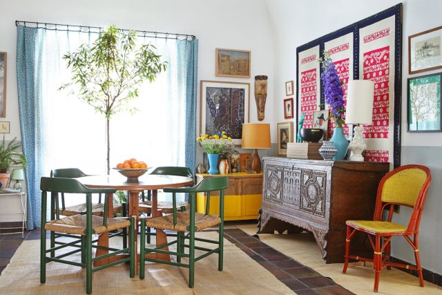 idee decoration salle a manger boho chic
