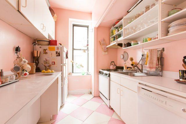 petite cuisine deco rose pastel