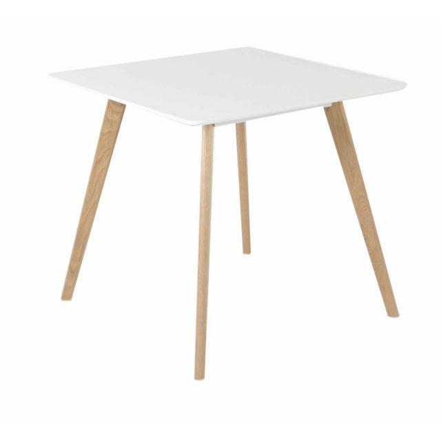 petite table blanche et bois cuisine