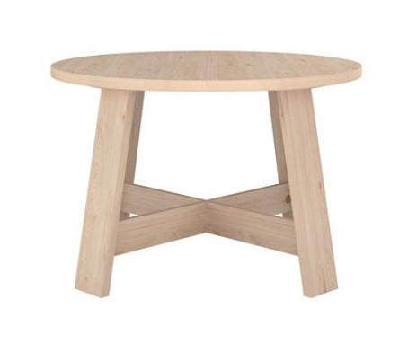 table ronde en bois cuisine