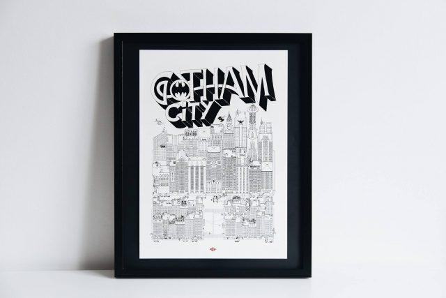 affiche deco geek batman architecture