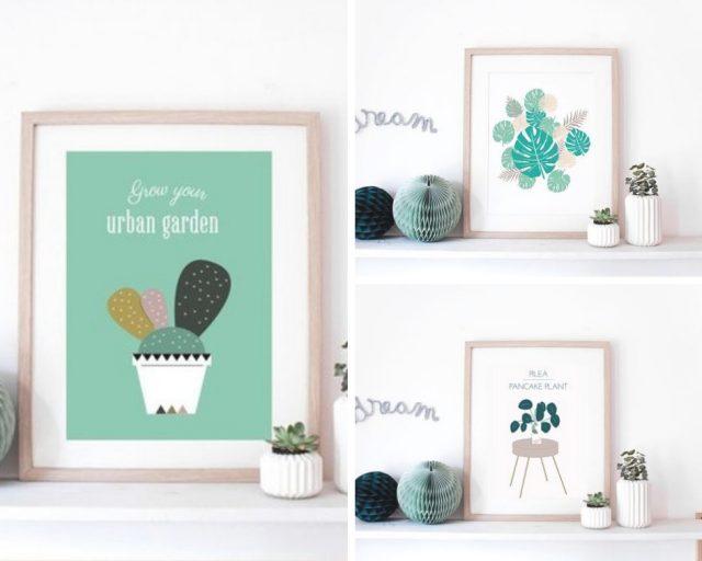 affiche deco plantes vertes