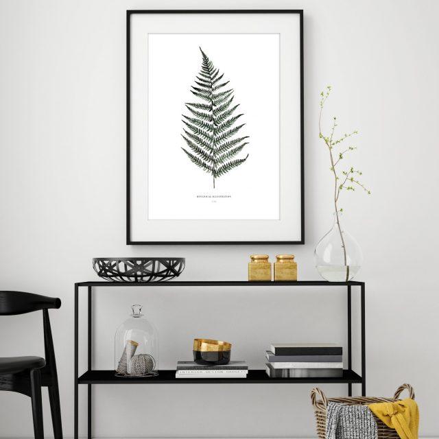 affiche decoration feuille plante tropicale