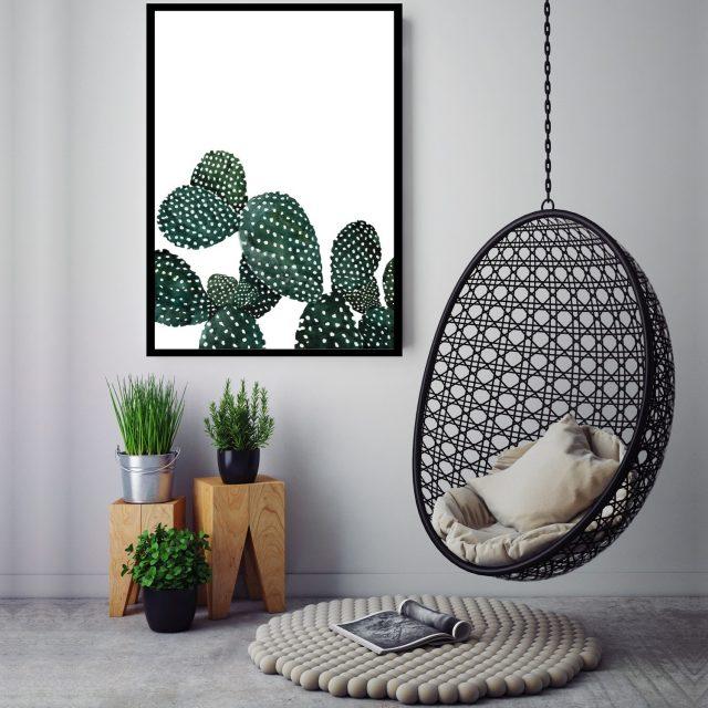 affiche poster deco mur cactus urban jungle