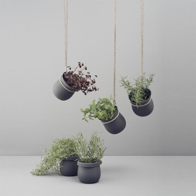 cache pot deco simple suspendu fleur plante interieur