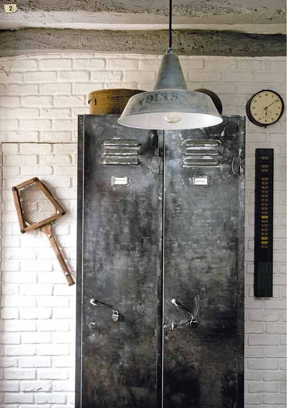 casier metallique patine deco industrielle