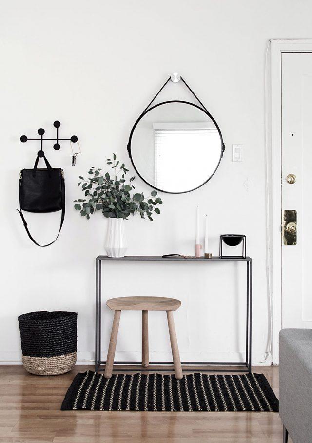 console miroir minimaliste entree