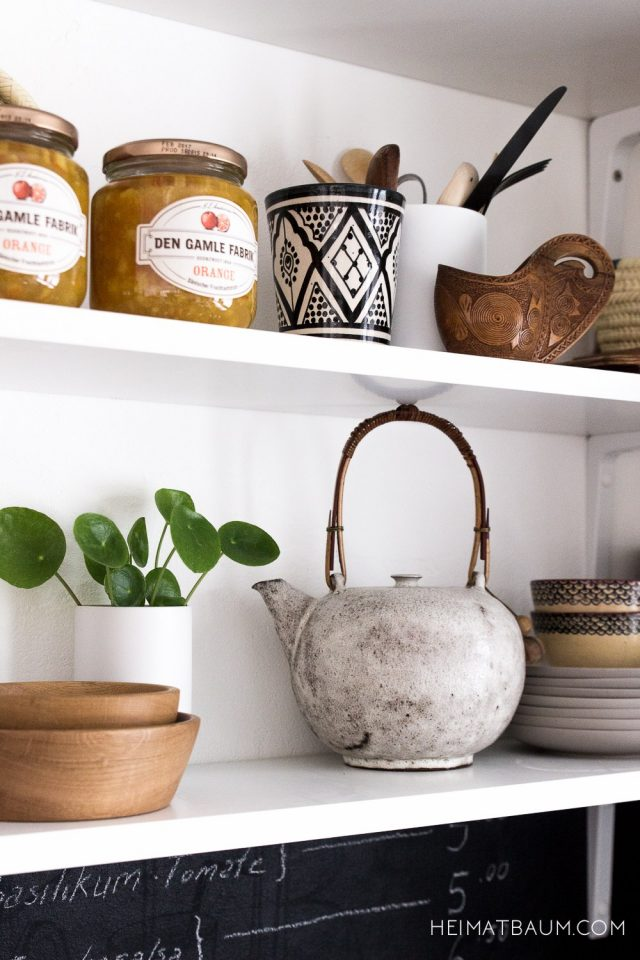 deco etagere cuisine plante