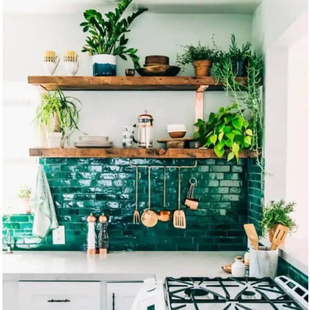 ambiance urban jungle dans la cuisine cocon d co vie nomade. Black Bedroom Furniture Sets. Home Design Ideas