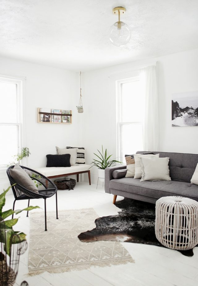 decoration interieur salon minimaliste famille