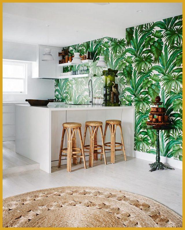decoration papier peint cuisine urban jungle