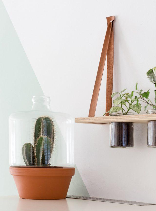 etagere suspendue deco cuisine plante