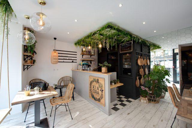 idee deco cuisine plante plafond