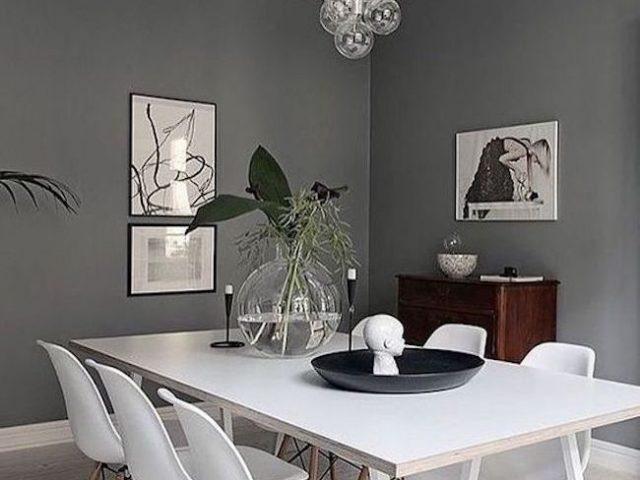 Du gris dans la salle manger cocon d co vie nomade Decoration salle a manger