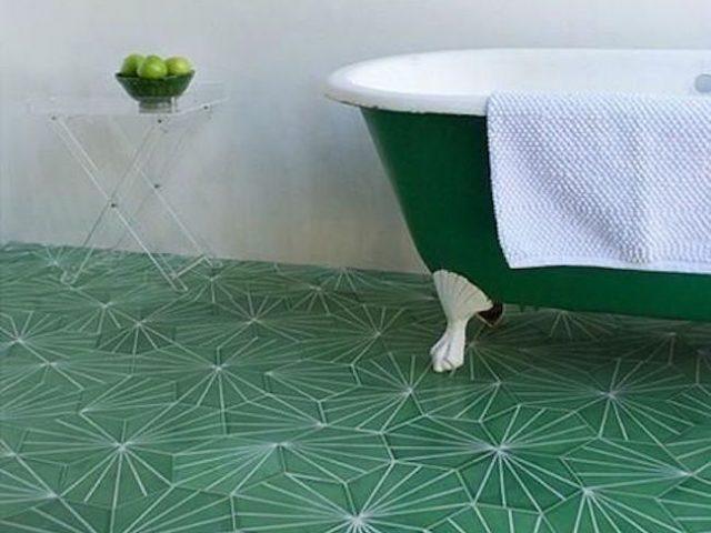 idee deco salle bain vert
