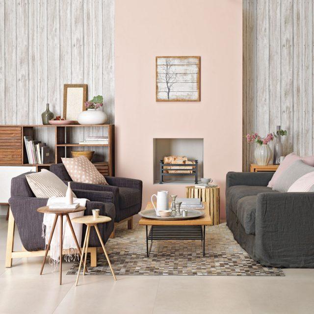 idee deco salon neutre tapis