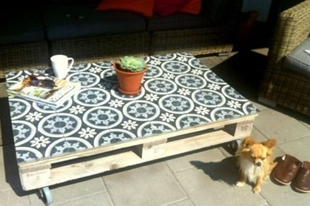 idee deco table basse palette