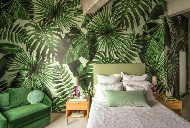 papier peint plante tropicale grand format