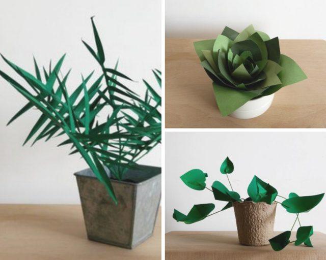plante verte papier deco