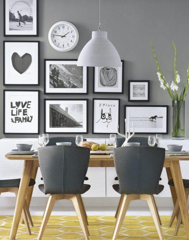 salle a manger moderne decoration interieur grise