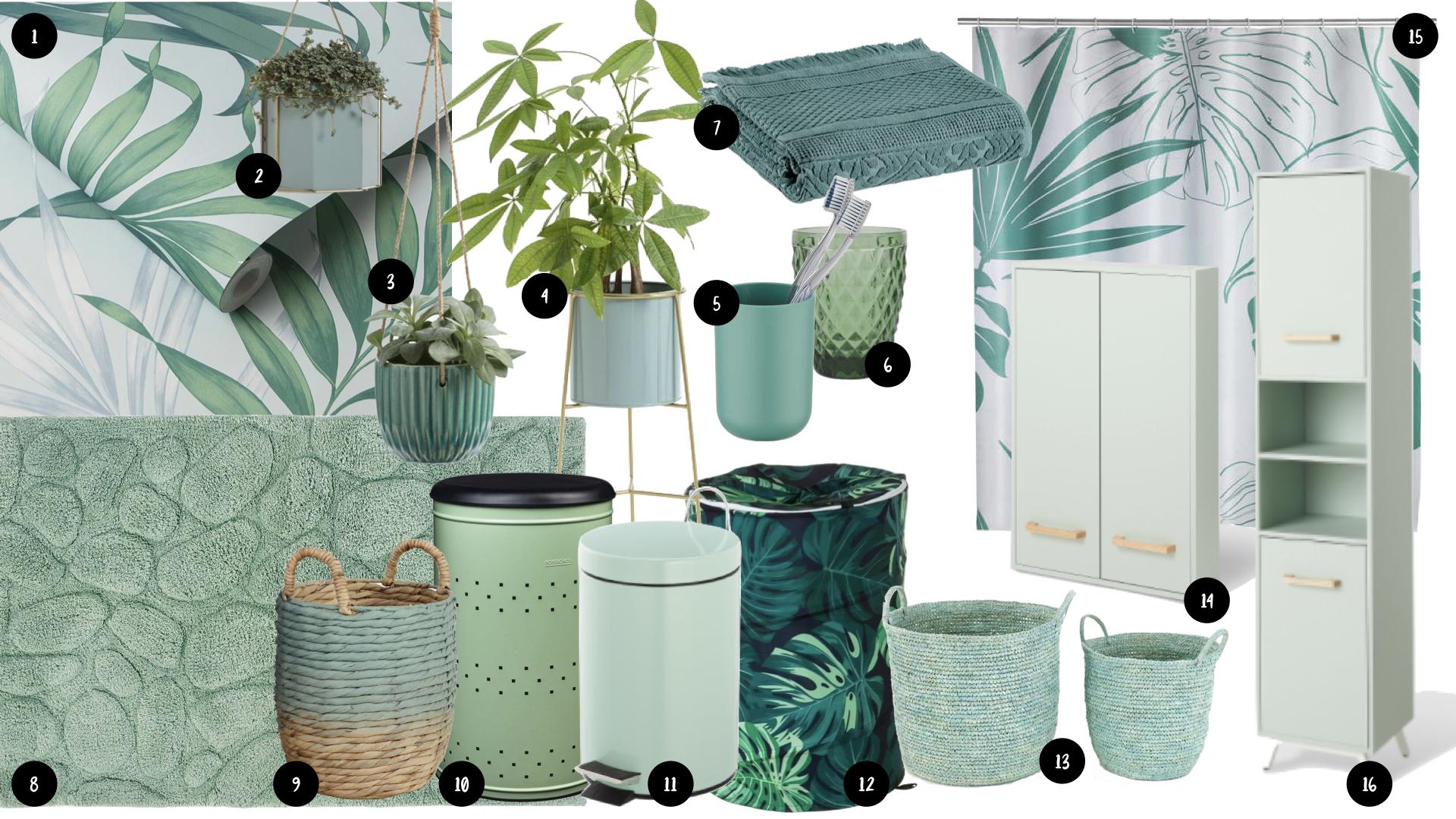 salle de bain couleur vert idee shopping