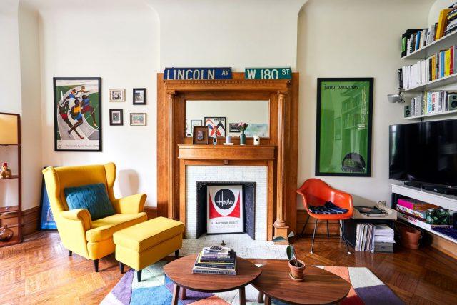 salon deco couleur contemporain