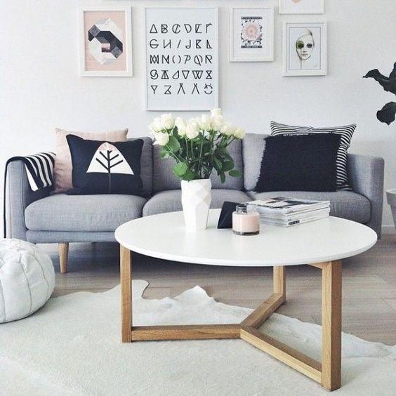 table basse ronde deco salon