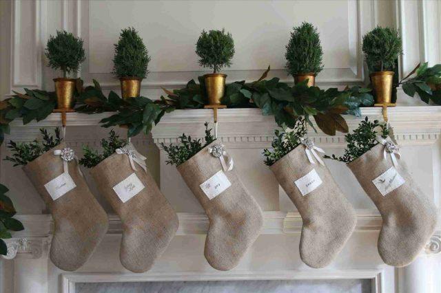deco cheminee noel decoration naturelle