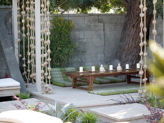 deco jardin meditation idee zen bougies
