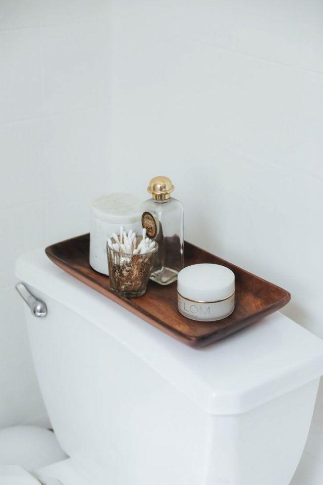 detail deco salle de bain toilette boheme