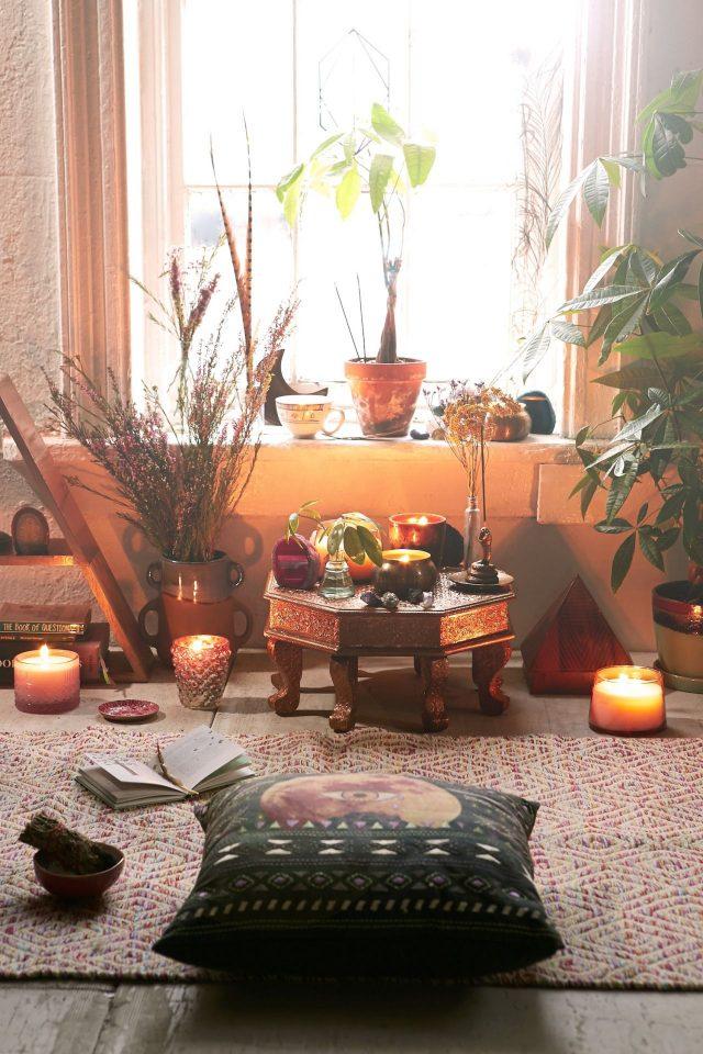 espace deco meditation ambiance boheme