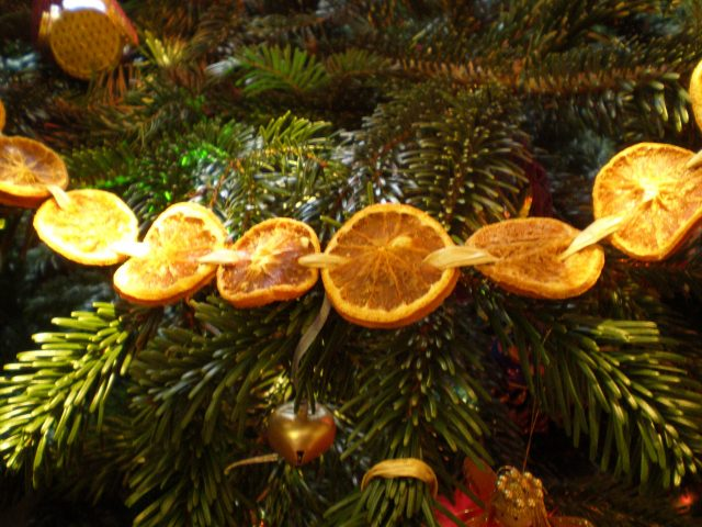 guirlande naturelle orange confite