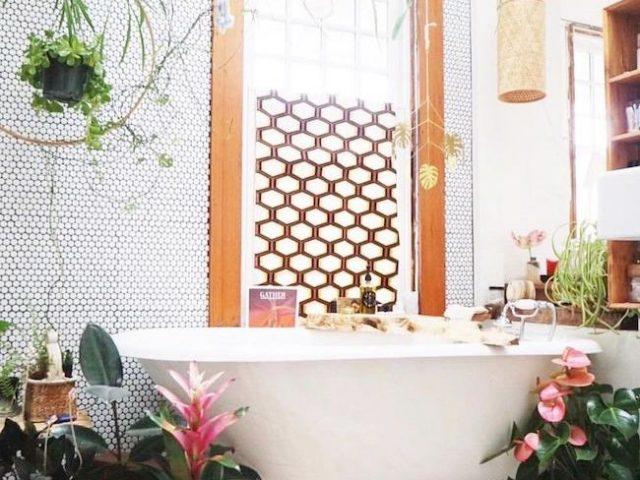 idee deco pour une salle de bain boheme