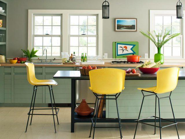 chaise de bar couleur cuisine