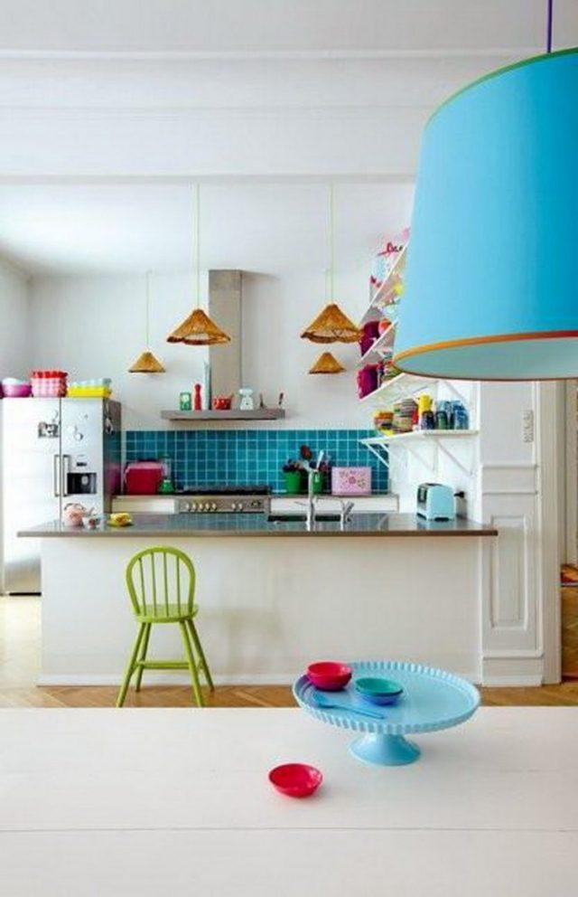 cuisine carrelage couleur
