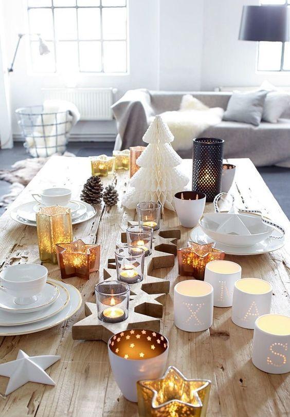 No l 5 ambiances festives pour une table de f tes cocon d co vie nomade - Idee table de noel ...
