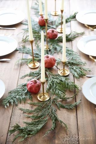 deco de table traditionnelle noel