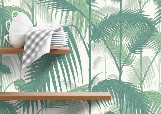 papier peint cuisine urban jungle couleur