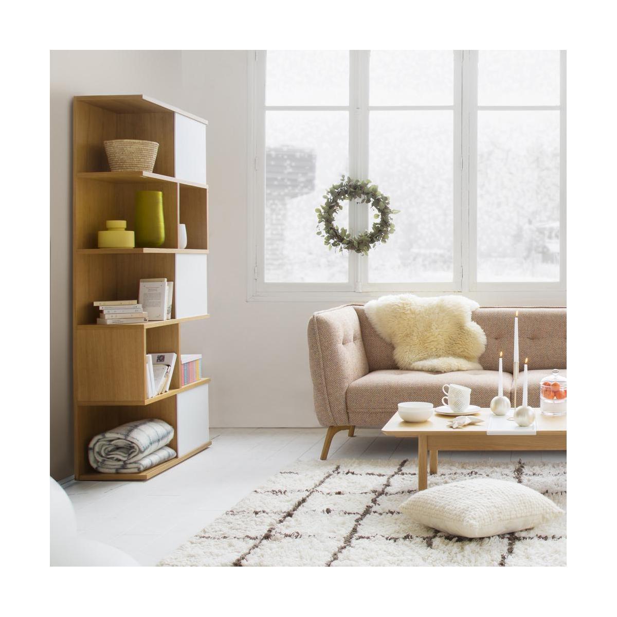 bibliotheque salon minimaliste