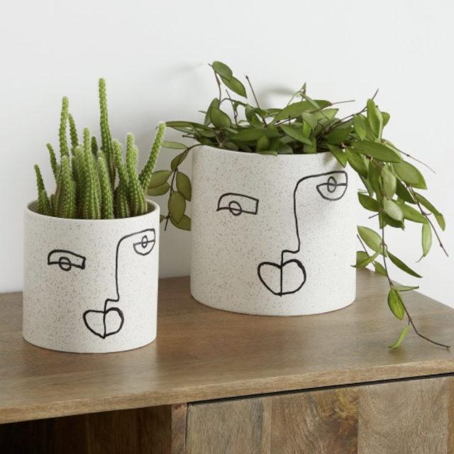 cache pot plante verte bureau decoration 4