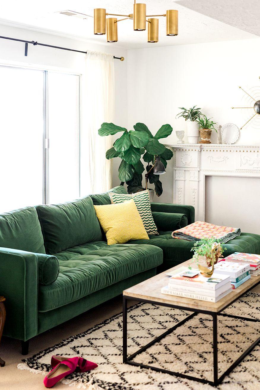 canape familial vert salon