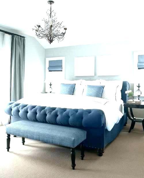 chambre classique decoration bleue