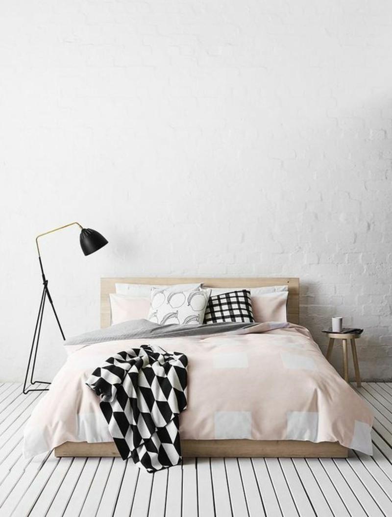 chambre deco minimaliste lampe