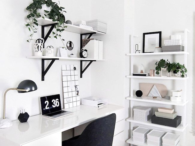 conseils bureau rangement minimaliste creatrice