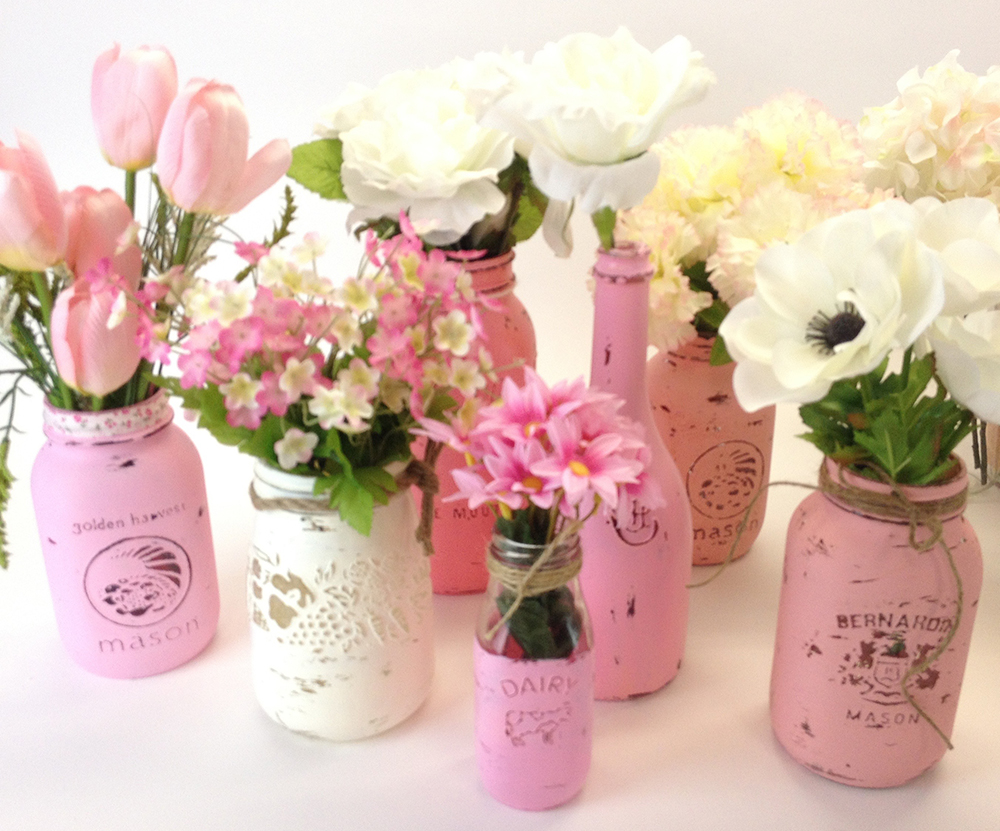deco florale bocal peinture