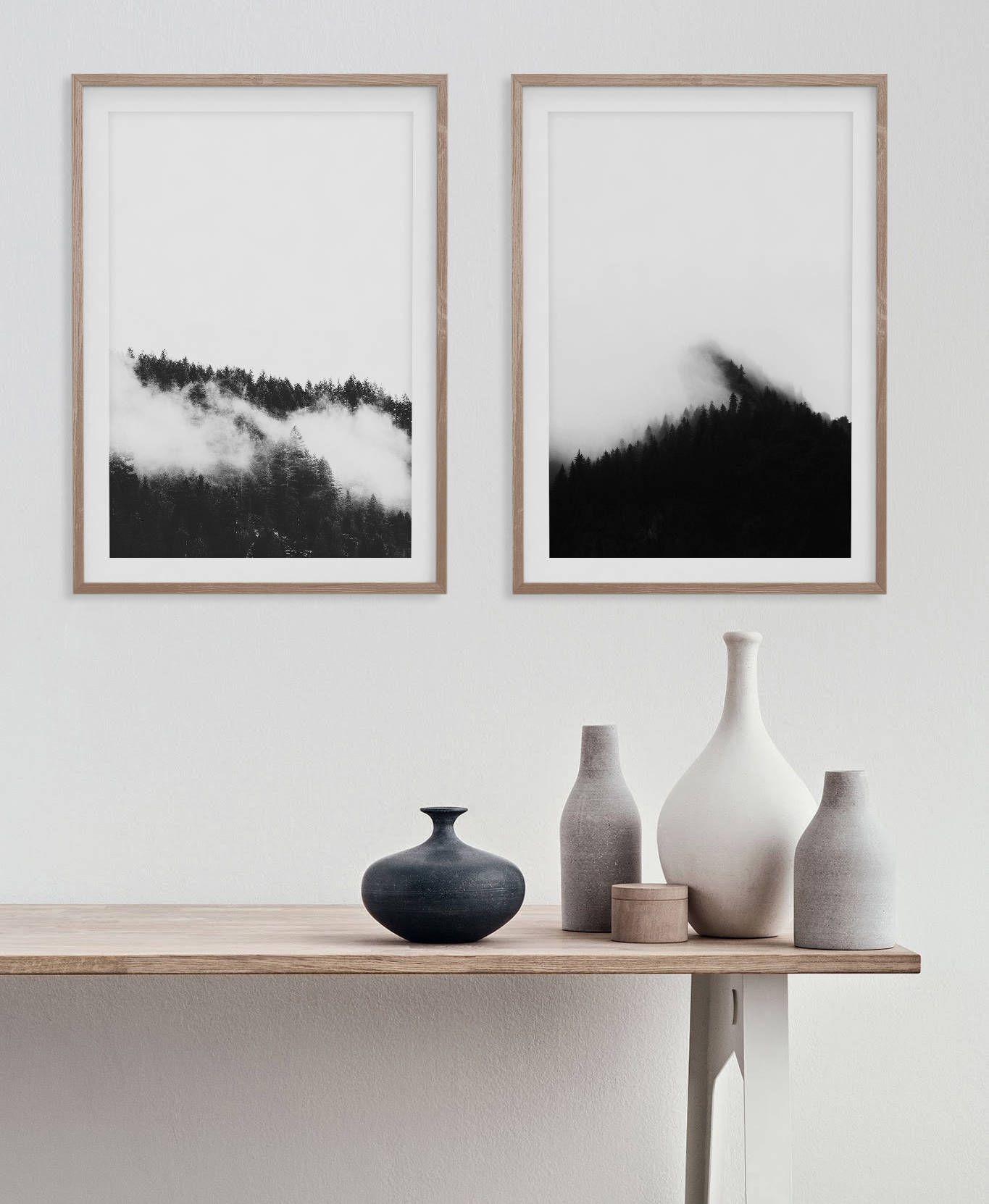 deco murale contraste noir et blanc