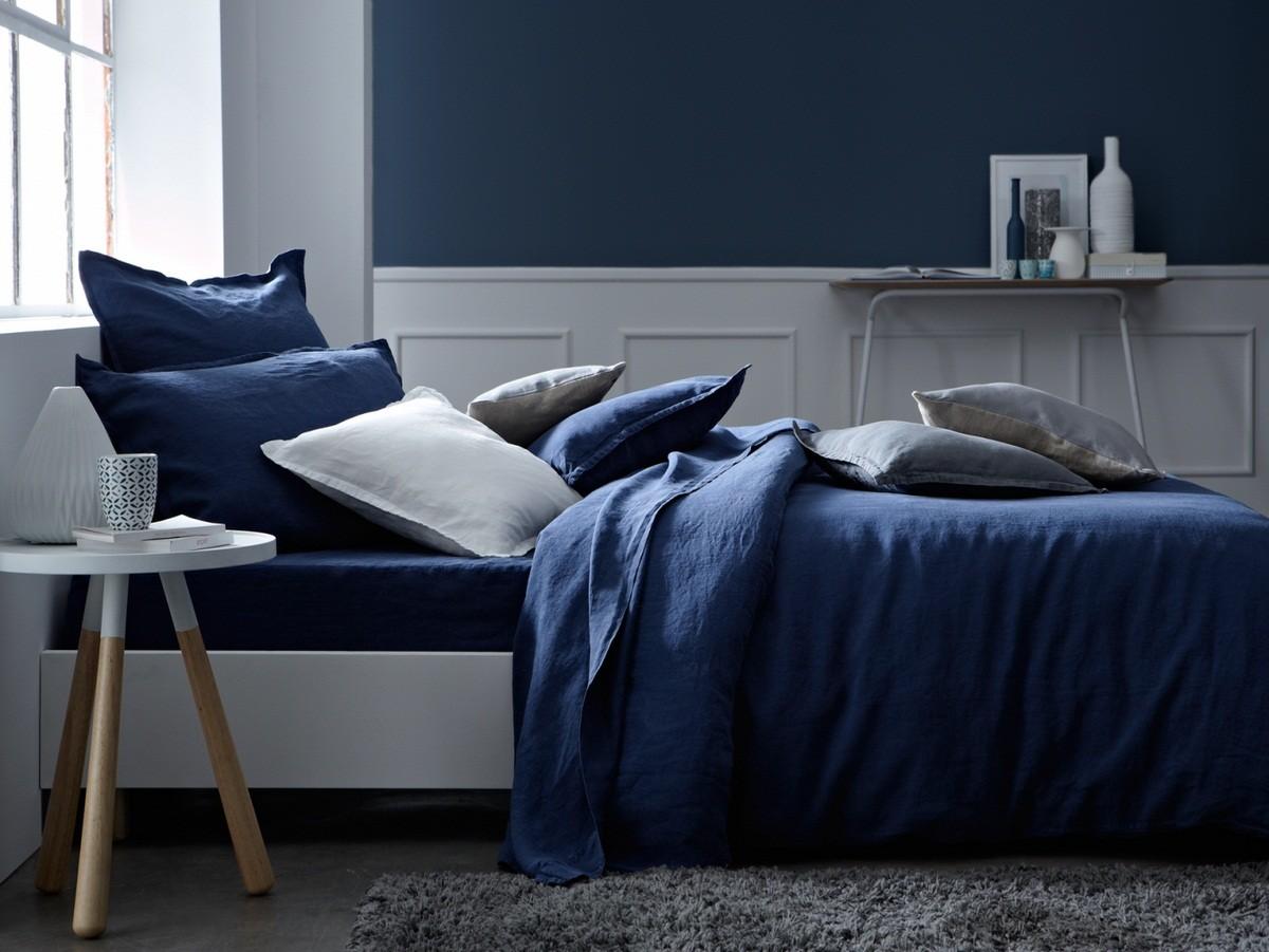 Decoration Chambre Bleu Soubassement