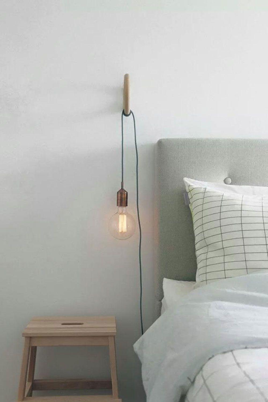 lampe de chevet minimaliste a suspendre