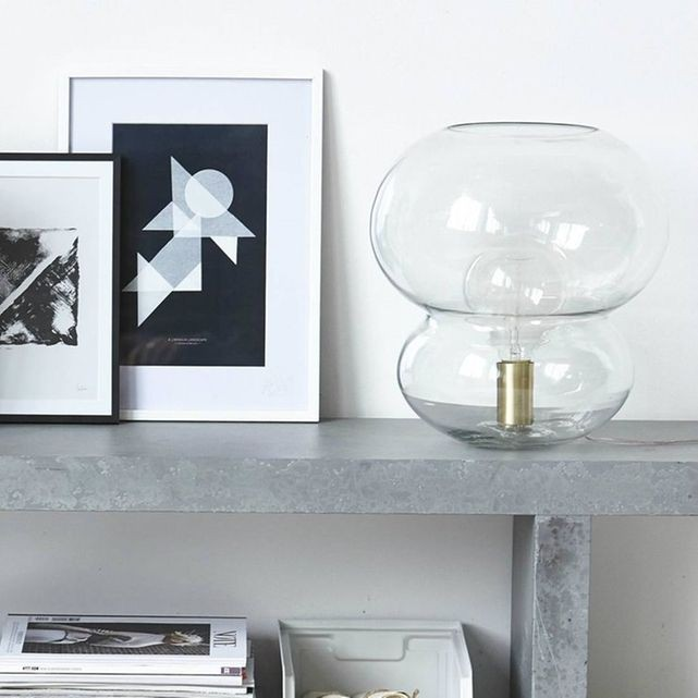 lampe verre minimaliste